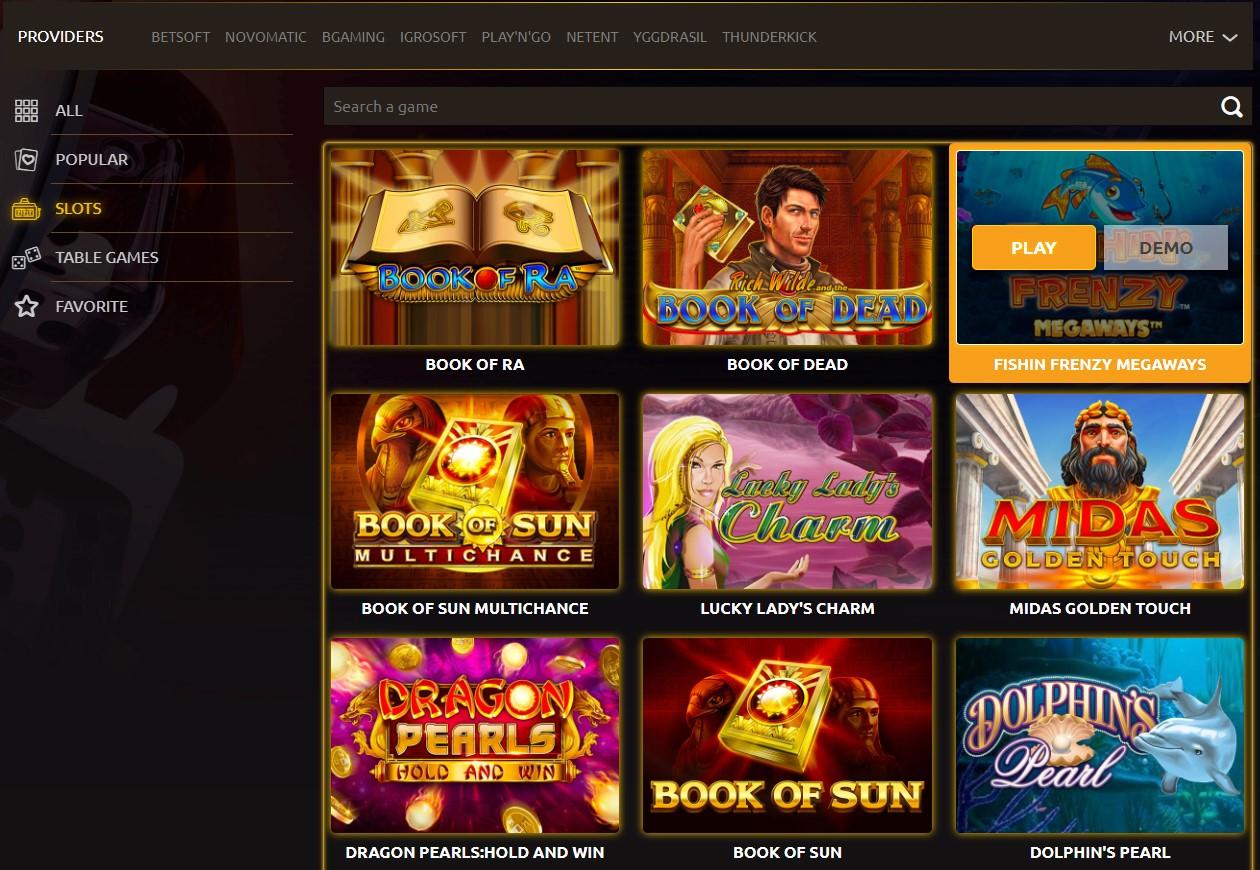 Triumph-Casino-games
